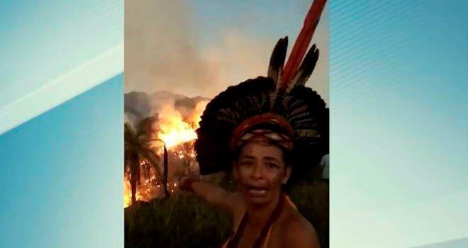 Incêndio atinge reserva indígena afetada por desastre da Vale